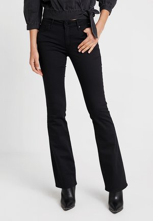 BELLA MID RISE - Jean bootcut - double black