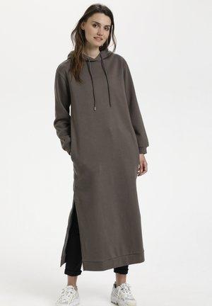 Jersey dress - morel