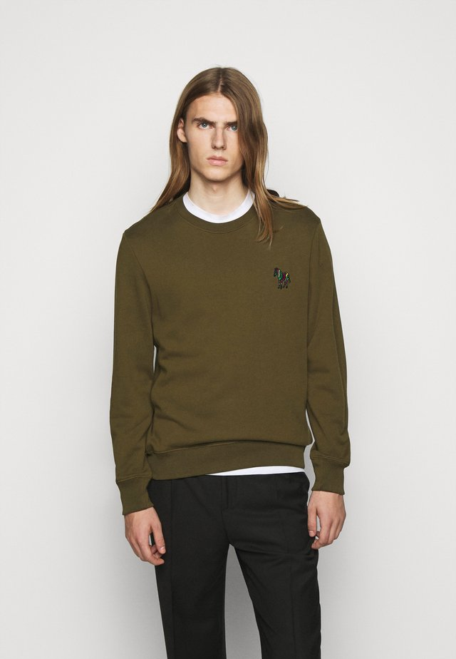 ZEBRA CREW NECK - Sweater - khaki