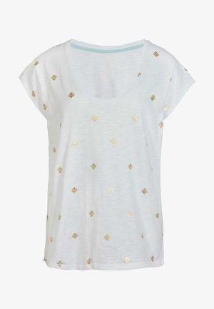 Basic T-shirt - weiß, korallenkacheln
