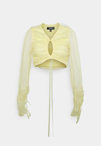RUCHED CUT OUT - Bluser - yellow