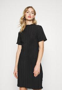 Weekday - ELAINE PLEAT SHORT DRESS - Day dress - black - 0