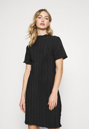 ELAINE PLEAT SHORT DRESS - Kjole - black