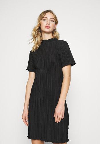 ELAINE PLEAT SHORT DRESS - Day dress - black