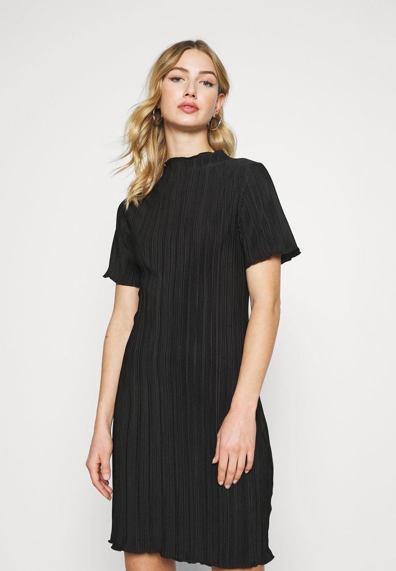 Weekday - ELAINE PLEAT SHORT DRESS - Day dress - black