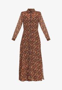 YASNOIDA 3/4 LONG SHIRT DRESS - Maxi dress - black/noida