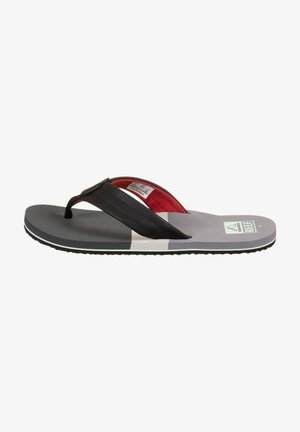 TRI WATERS - T-bar sandals - grey / red tri waters