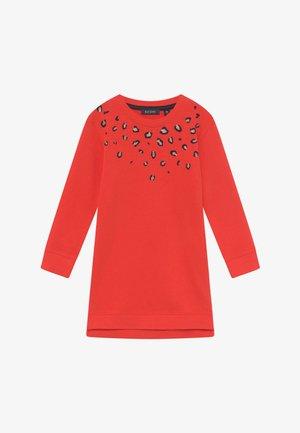 KIDS ANIMAL PRINT - Denní šaty - tomate