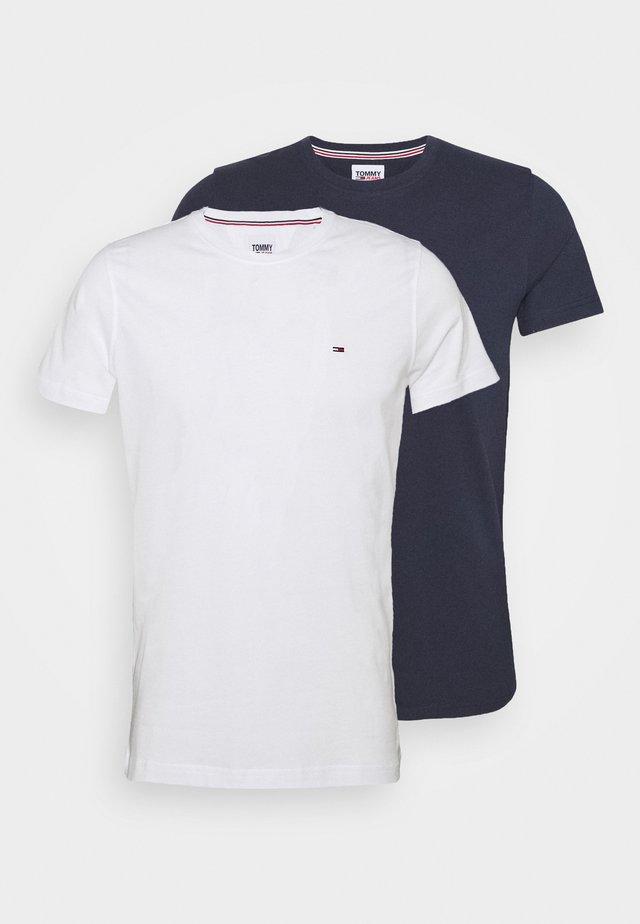 CNECK TEES 2 PACK - T-shirt basique - white/dark blue