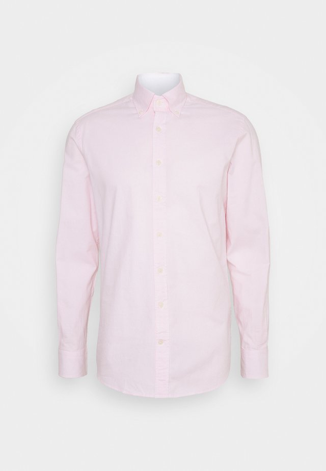 WASHED TICKING - Skjorta - white/pink