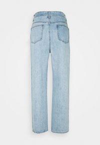 Lost Ink Petite - STRAIGHT PIPE LEG RIP - Straight leg jeans - mid denim - 1