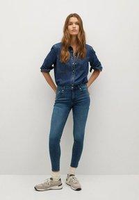 Mango - ISA - Jeans Skinny Fit - diep donkerblauw - 0