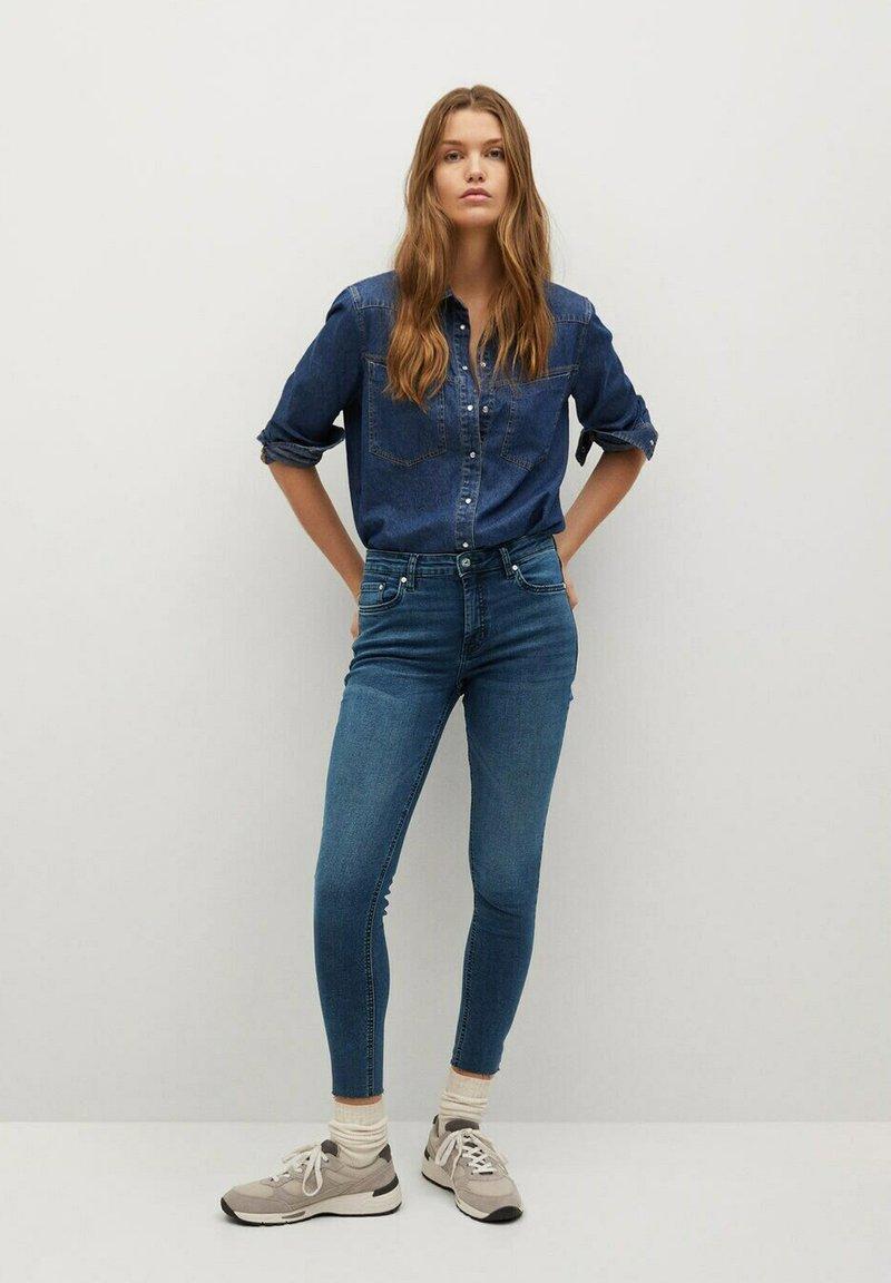 Mango - ISA - Jeans Skinny Fit - diep donkerblauw