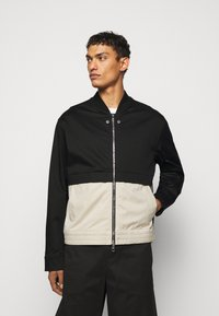 Neil Barrett - TRAVEL SLIM BOMBER - Bomber Jacket - black/natural - 0