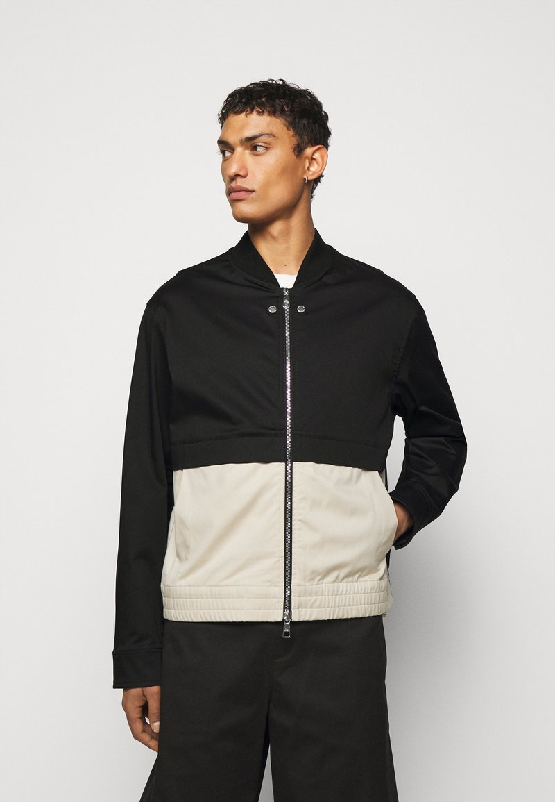 Neil Barrett - TRAVEL SLIM BOMBER - Bomber Jacket - black/natural