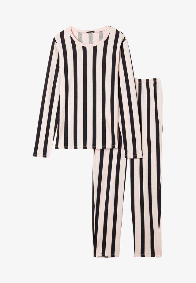 SET - Pyjamas - sweet pink/nero st.righe