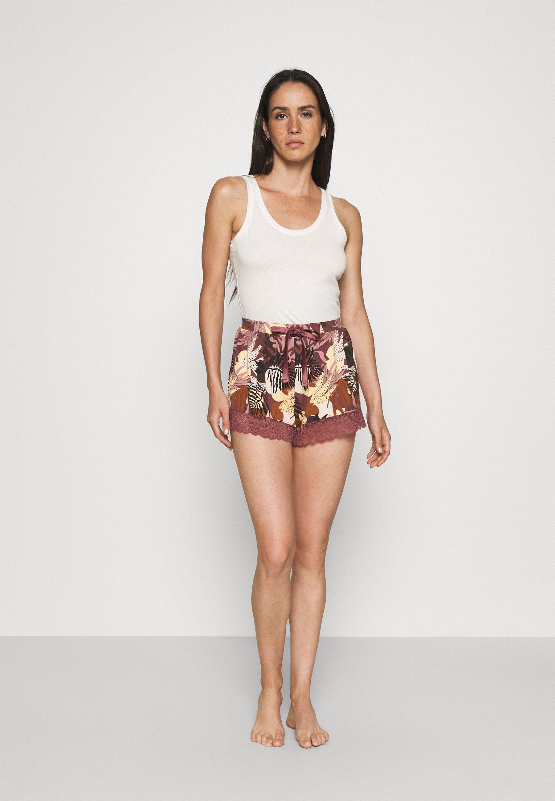 Femme SHORT ABSTRACT LEAF 2 PACK - Bas de pyjama