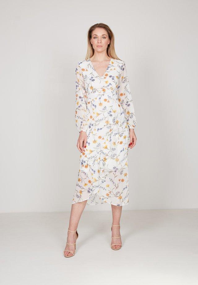 Korte jurk - white, blue, yellow