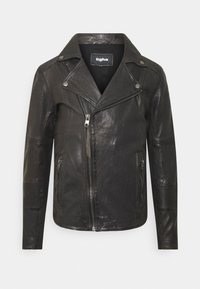 Tigha - ARNO - Leather jacket - stone grey - 0