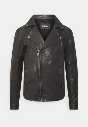 ARNO - Leather jacket - stone grey