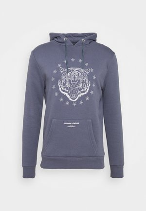 TIGER HOODY - Sweatshirt - slate