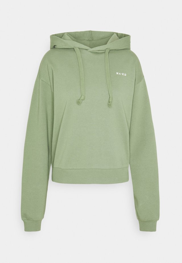 LOGO BASIC HOODIE - Bluza z kapturem - green