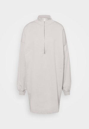 FRONT ZIP DRESS - Robe d'été - greige