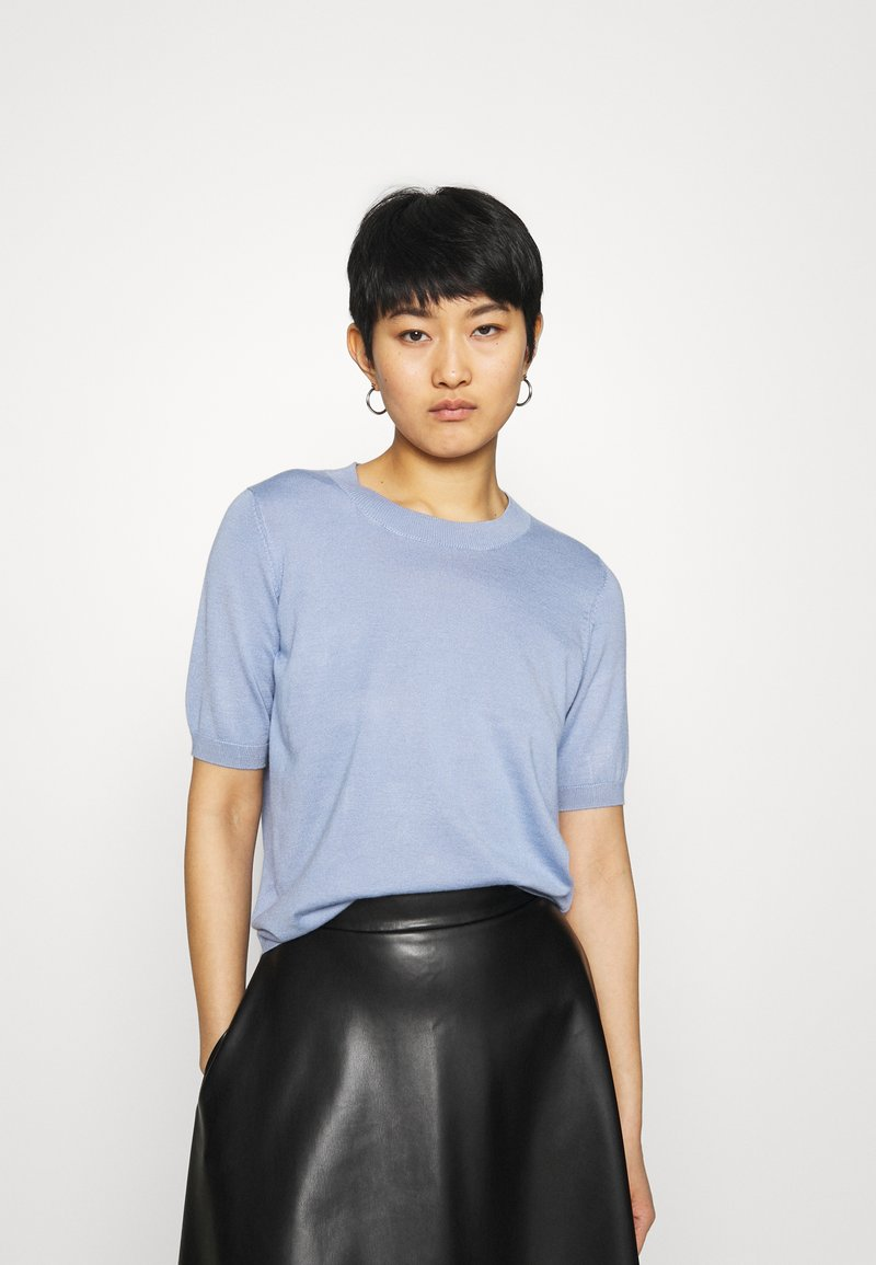 Lindex - POLLY - Basic T-shirt - light blue