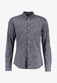 FITTED FAUX UNI - Shirt - black iris blue