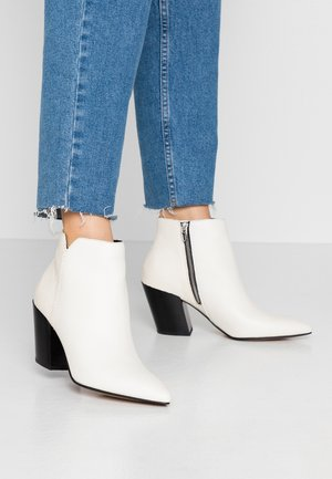 ADEN SLICED  - Boots à talons - white
