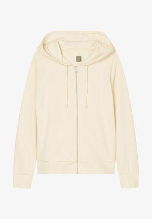 Zip-up hoodie - raw cream