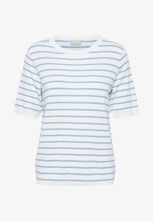 Printtipaita - chalk chambray blue stripes