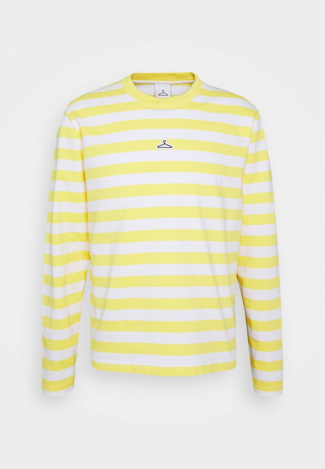 HANGER STRIPED LONGSLEEVE - Longsleeve - yellow/white