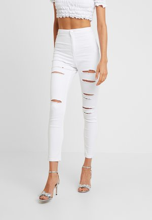 MULTI VICE HIGH WAIST - Jeansy Skinny Fit - white