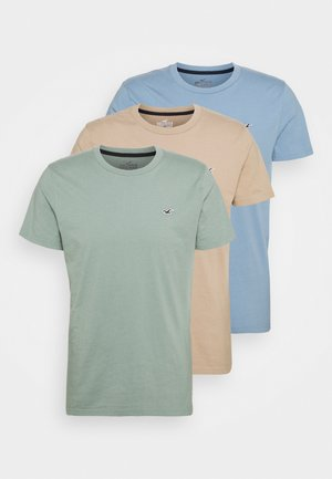 SEASONAL 3 PACK - Basic T-shirt - chinois/blue/toasted coconut