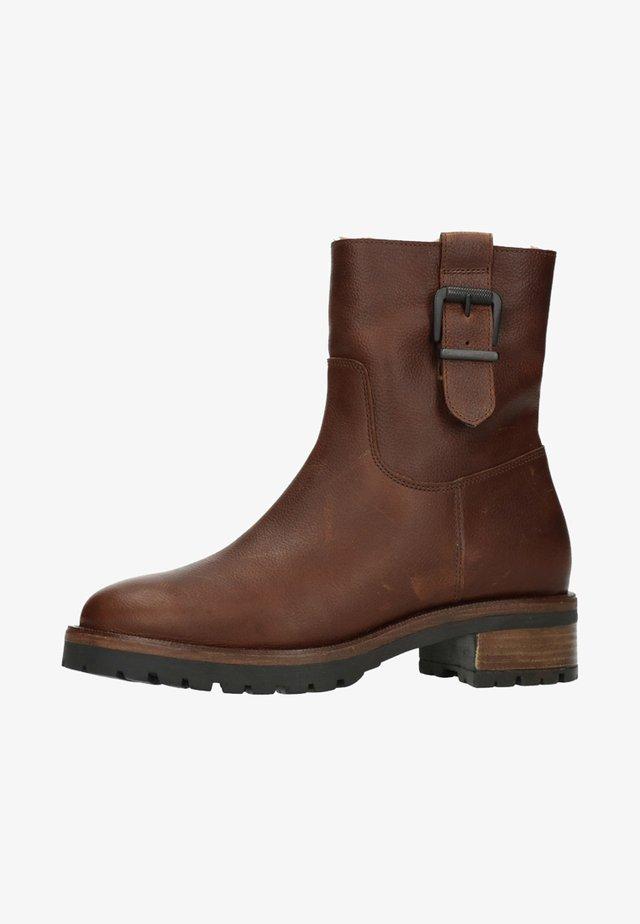 MIT SCHNALLE - Korte laarzen - brown