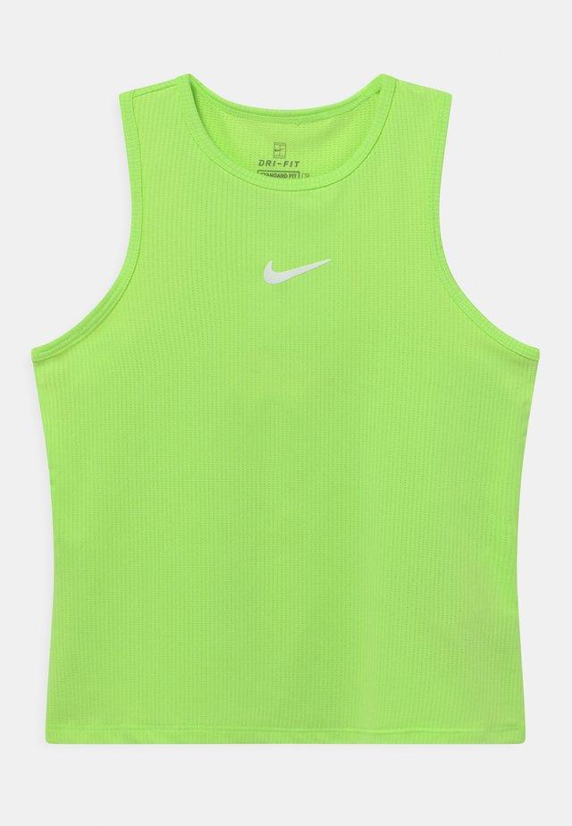 TANK - Sports shirt - lime glow/white
