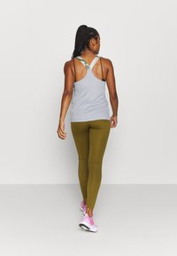 Nike Performance - ONE LUXE - Leggings - olive flak/clear - 2