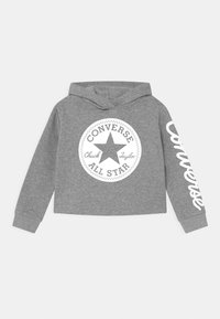 Converse - CHUCK PATCH CROPPED HOODIE - Mikina s kapucí - grey heather - 0