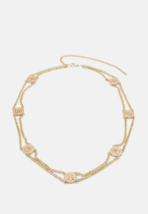 PCLIONA WAIST CHAIN BELT CURVE - Pasek - gold-coloured