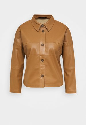 NIDA - Faux leather jacket - roasted hazel