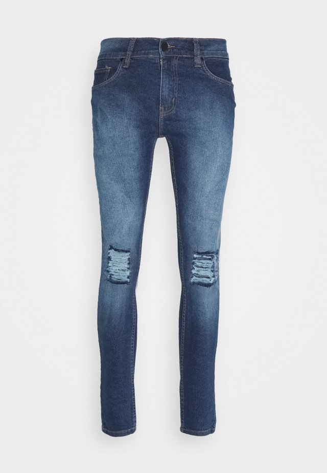 DESTROY - Jeansy Skinny Fit - mid stone wash