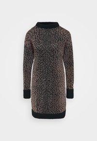 PRESSIONE DRESS - Strikket kjole - nero/rosa