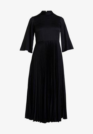 CLOSET COLLARED PLEATED DRESS - Shirt dress - black
