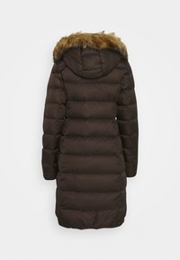 Marc O'Polo - COAT LONG FILLED HOOD FLAP POCKETS - Down coat - dark chocolate - 1