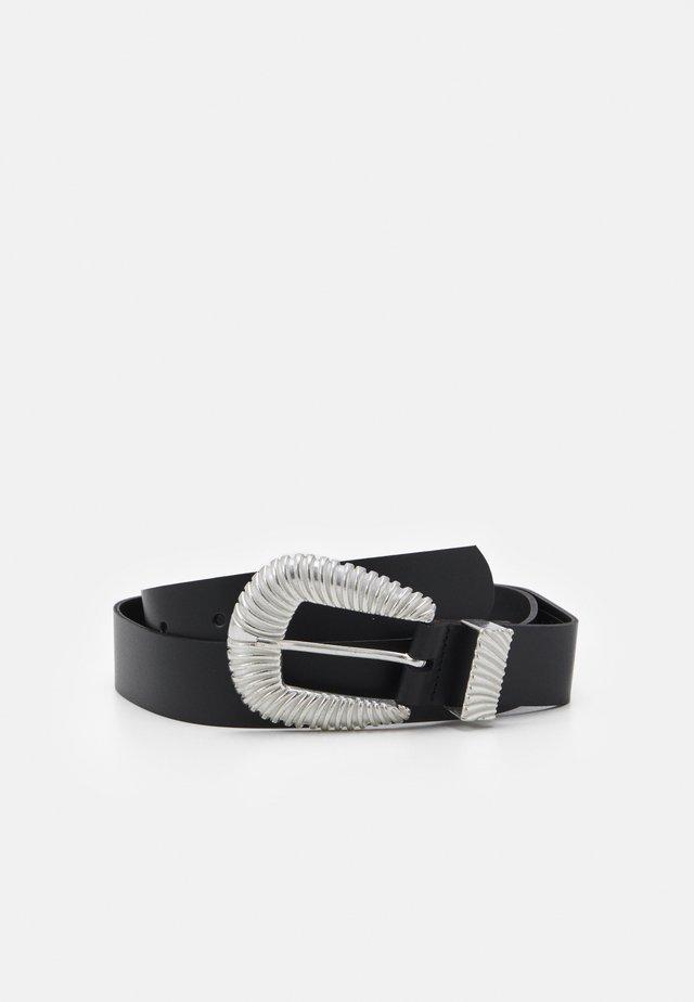 VMKAMMA BELT - Belt - black/silver-coloured