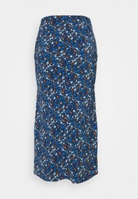 Glamorous - CARE FLORAL PRINTED MIDI SKIRT - A-line skirt - navy blue/ orange - 7