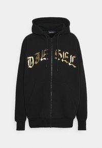 Diesel - FELPA UNISEX - Zip-up sweatshirt - black/gold - 0