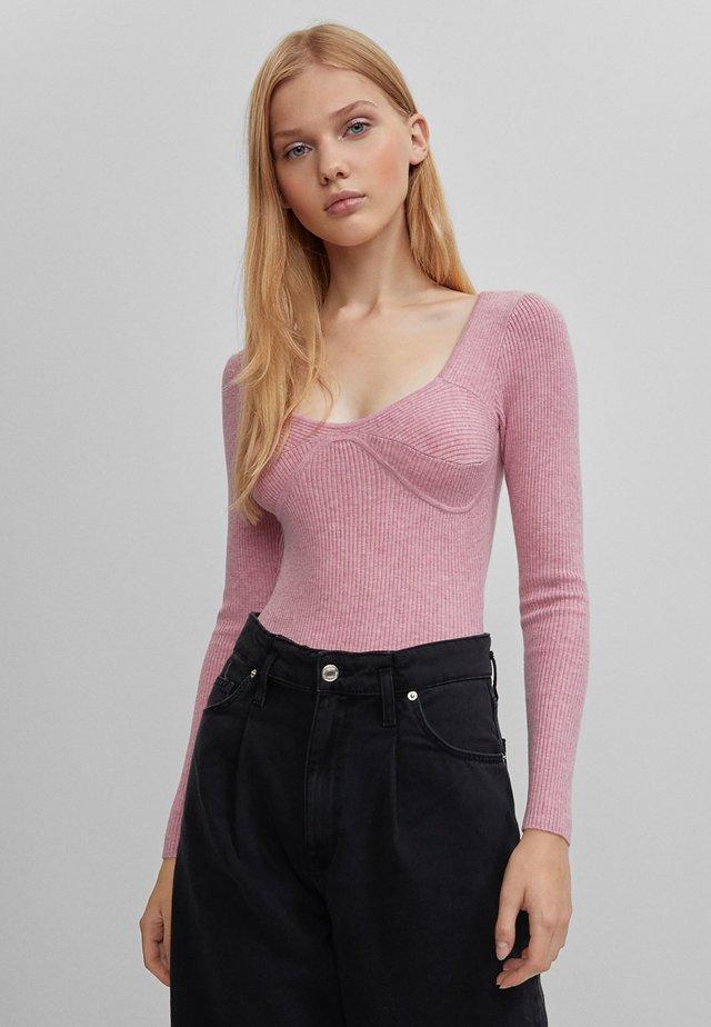 MIT DETAIL AUF DER BRUST  - T-shirt à manches longues - pink