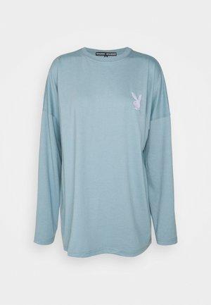 PLAYBOY T-SHIRT - T-shirt med print - grey